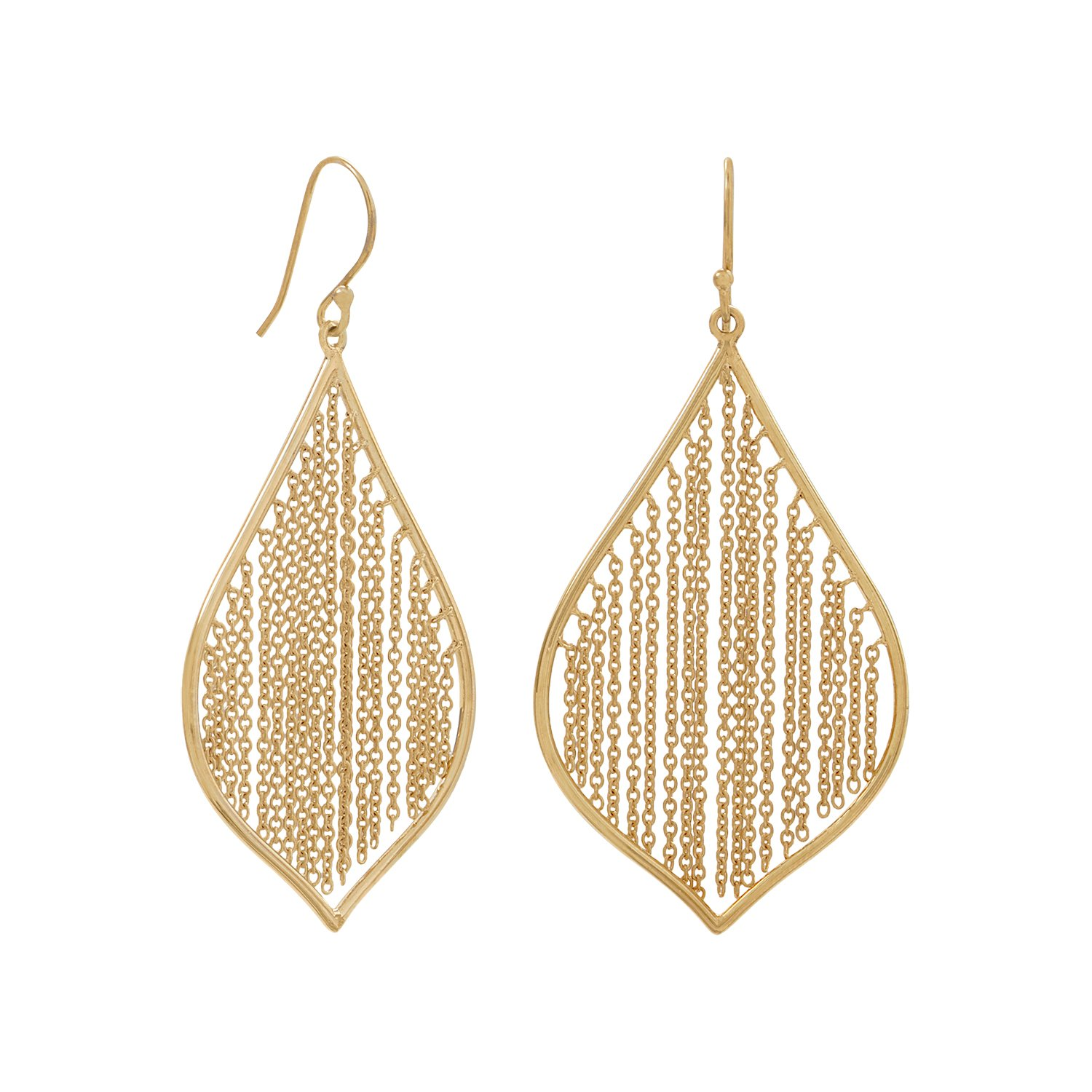 plated silver jewelry sterling earrings triangle goldplated az drop dangle modern pfs bling gold