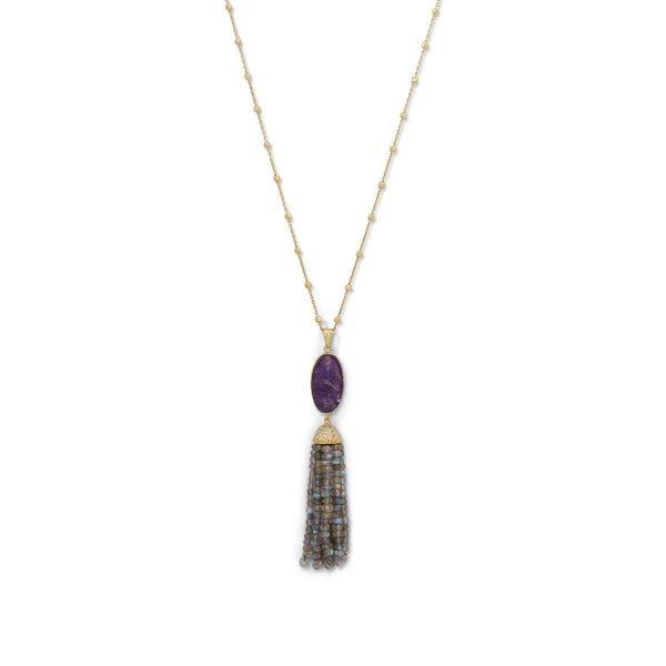Ladies amethyst necklace